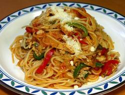 中途半端な出来のスパゲティ