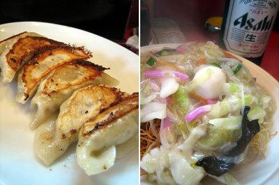 近所の「小楽亭」で食べた中華料理