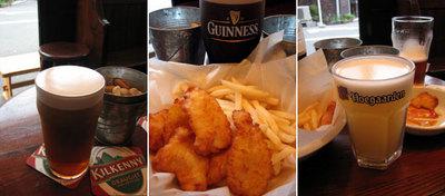鶴橋のドッグハウス・インのビールとフィッシュ&チップス