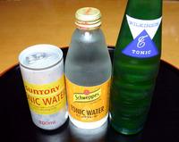 Suntory,Schweppes,WilkinsonのTonicwater