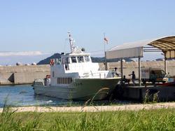 淡路島の土生港から沼島への船